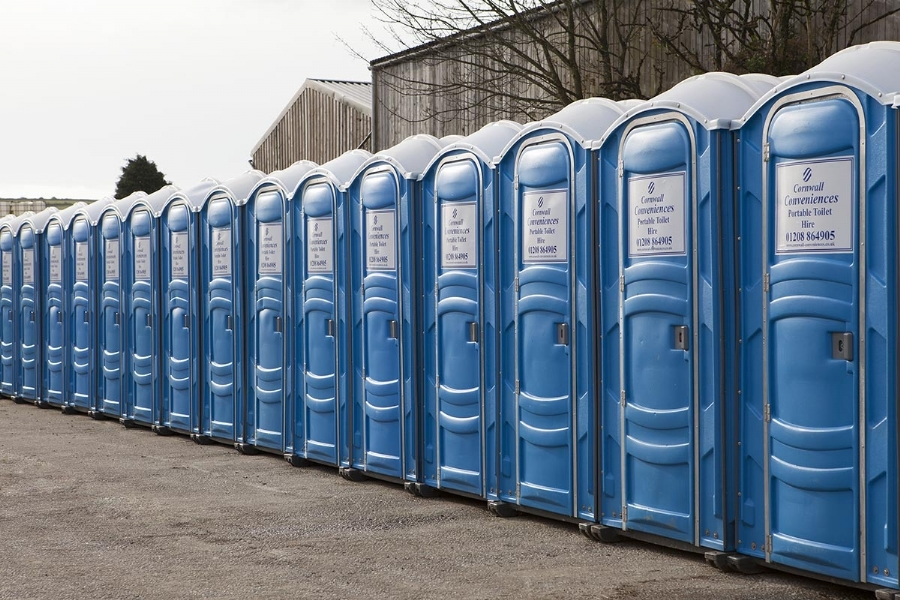 Portable event toilets for hire in Cornwall.